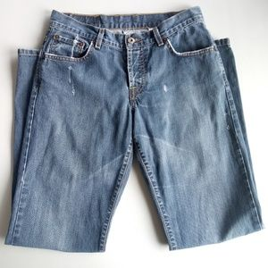Women's Lucky Brand Blue Jeans Distressed 4/27